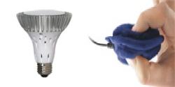 Power Vivid® BR30 LED Bulb Warm White - Dimmable & SoftSpeaker™ Pillow Speaker