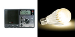 CCRadio-SW AM/FM Shortwave Radio & GeoBulb®-3 LED Light Bulb (Warm White)