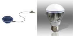 SoftSpeaker™-2 Pillow Speaker with Volume Control & Power Vivid® BR20 LED Light Bulb (Cool White)