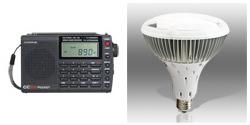 CC SW Pocket AM/FM/SW Pocket Radio & Power Vivid® BR40 LED Light Bulb in Cool White