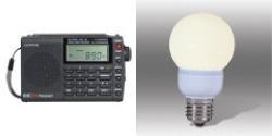 CC SW Pocket AM/FM/SW Radio &  Sun's Dusk LED Accent Light Bulb
