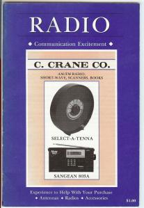 C. Crane Catalog printed in 1992 with the Select-A-Tenna and Sangean 803A