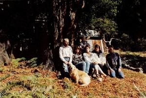 Pictured above: Bob Crane, Sue Crane, Grandma Faye, Katie Kennard, Sue Long, Don Allen and Simon the dog