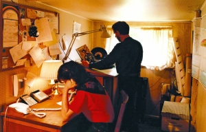 Bob and Sue in the first C. Crane Office, 1990.