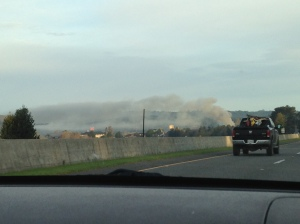 Smoke from the highway