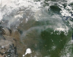 Photo credit: NASA.gov http://www.nasa.gov/image-feature/goddard/smoke-from-western-fires-wafts-eastward